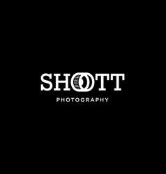 shoott photography logo design concept vector image