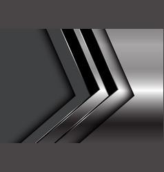 Silver black arrow direction on dark grey blank vector