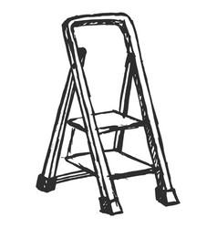 Sketch step ladder vector