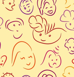 smiles pattern vector image
