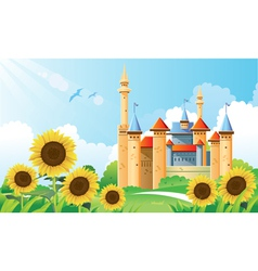 Summer Castle Background vector