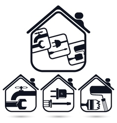 Symbol for home renovation vector image