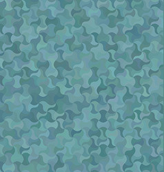 Teal abstract curved mosaic pattern background vector image