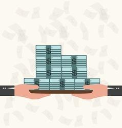 Waiter serving money Business concept vector image