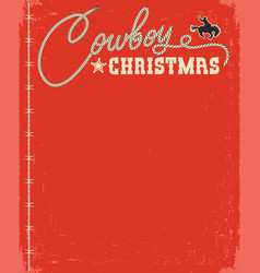 western red christmas card with rope text vector image