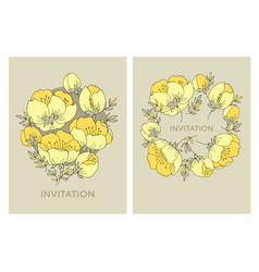 yellow rose flower pattern apple tree blossom vector image