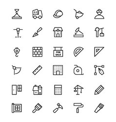 Construction Line Icons 1 vector image vector image