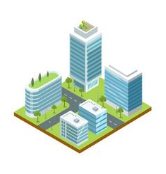 modern big city architecture isometric icon vector image