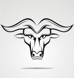 Tribal Buffalo Head vector image vector image