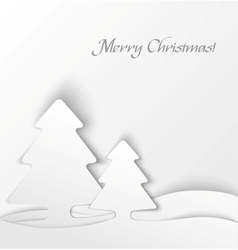 White christmas tree applique background vector image vector image