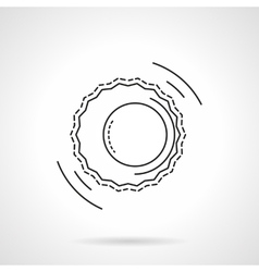Astrology flat line design icon vector image vector image