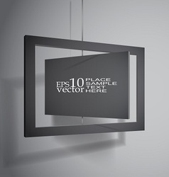 Hanging boards vector image vector image
