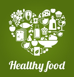 HealthyFoodL vector image