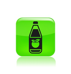 juice bottle icon vector image vector image