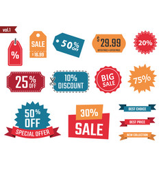 sale banners set discount coupons and labels vector image vector image