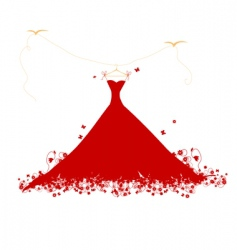 dress on hanger vector image