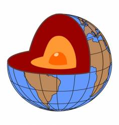 earth core vector image vector image