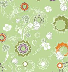 floral fashion pattern vector image vector image