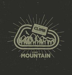 outdoor adventure label vintage design vector image