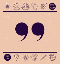 quote symbol vector image