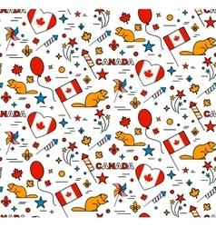 Seamles pattern for Canada Day 1st of July vector image