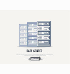 server room line vector image