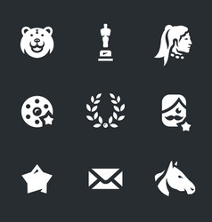 set of movie award icons vector image vector image