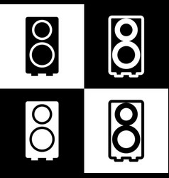 speaker sign black and white vector image vector image