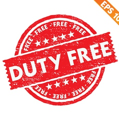 Stamp sticker Duty free collection - - EPS1 vector image vector image