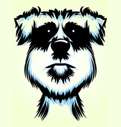 Terrier Dog Portrait vector image vector image