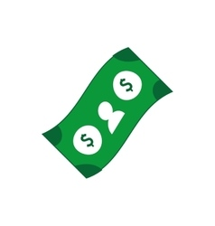 bill money dollar icon design vector image