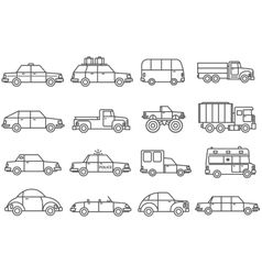 Cars Line Icons Set vector image vector image