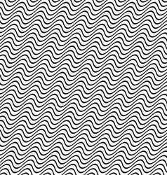 3D seamless black and white wave pattern vector