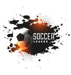 abstract grunge soccer league tournament vector image