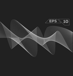 abstract monochrome wave vector image