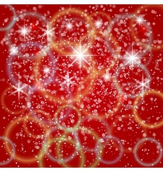 abstract red background with bokeh and particles vector image