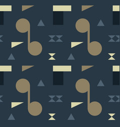 Abstract shapes bright seamless pattern vector