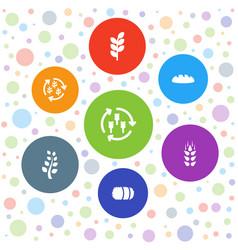 barley icons vector image
