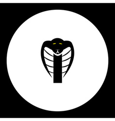 black cobra snake head simple isolated icon eps10 vector image