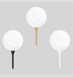 Black wooden and white golf vector