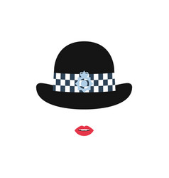 british police girl in a hat police avatar vector image