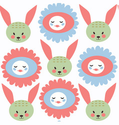 bunny abstract childish seamless pattern it is vector image