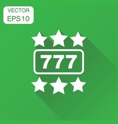 Casino slot machine icon business concept 777 vector