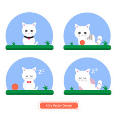 cat icon kitty design vector image