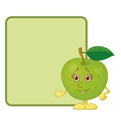 Character apple and poster vector