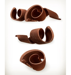 Chocolate shavings chocolates curl sweet food icon vector