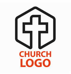 Christian churches logo line art in the form of a vector