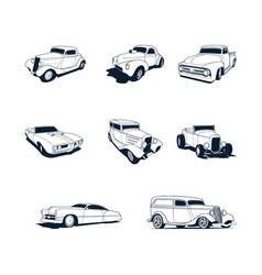 classic cars collection set vector image