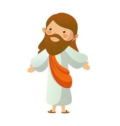 Close-up jesus christ standing vector