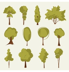 Collection of trees vector
